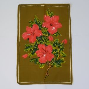 2/$20 Vintage floral tea towel